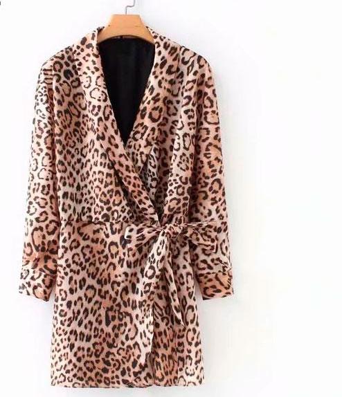 Blazer leopardato a vestito