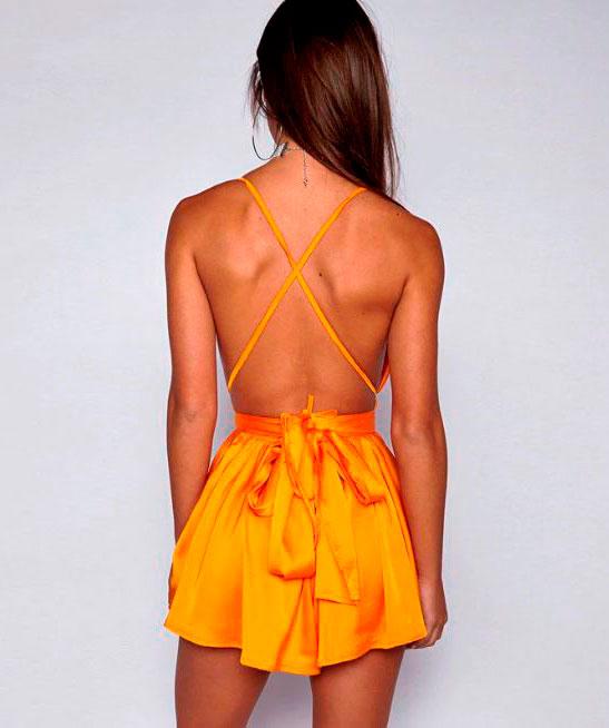 Vestitino di raso ArancionecoloreArancione