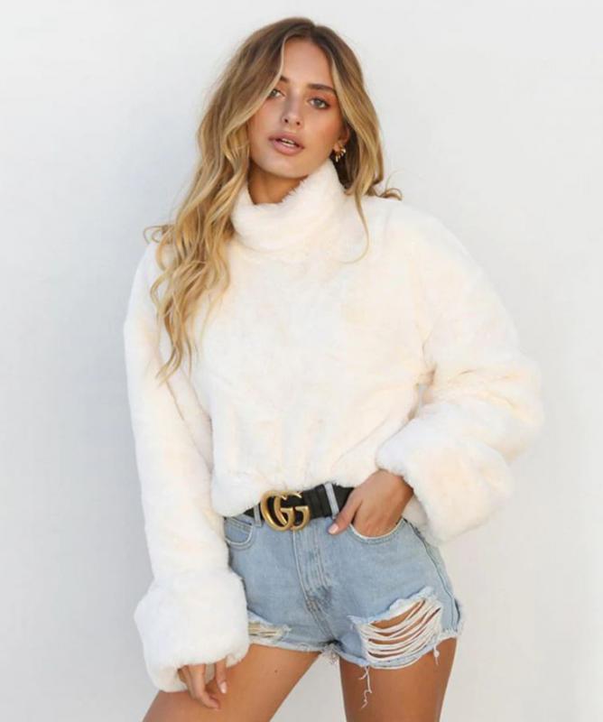 Maglione manica lunga Bianco