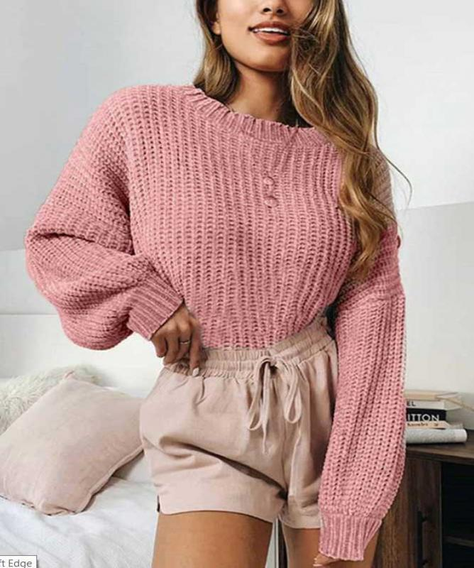 Maglione a collo alto rosa