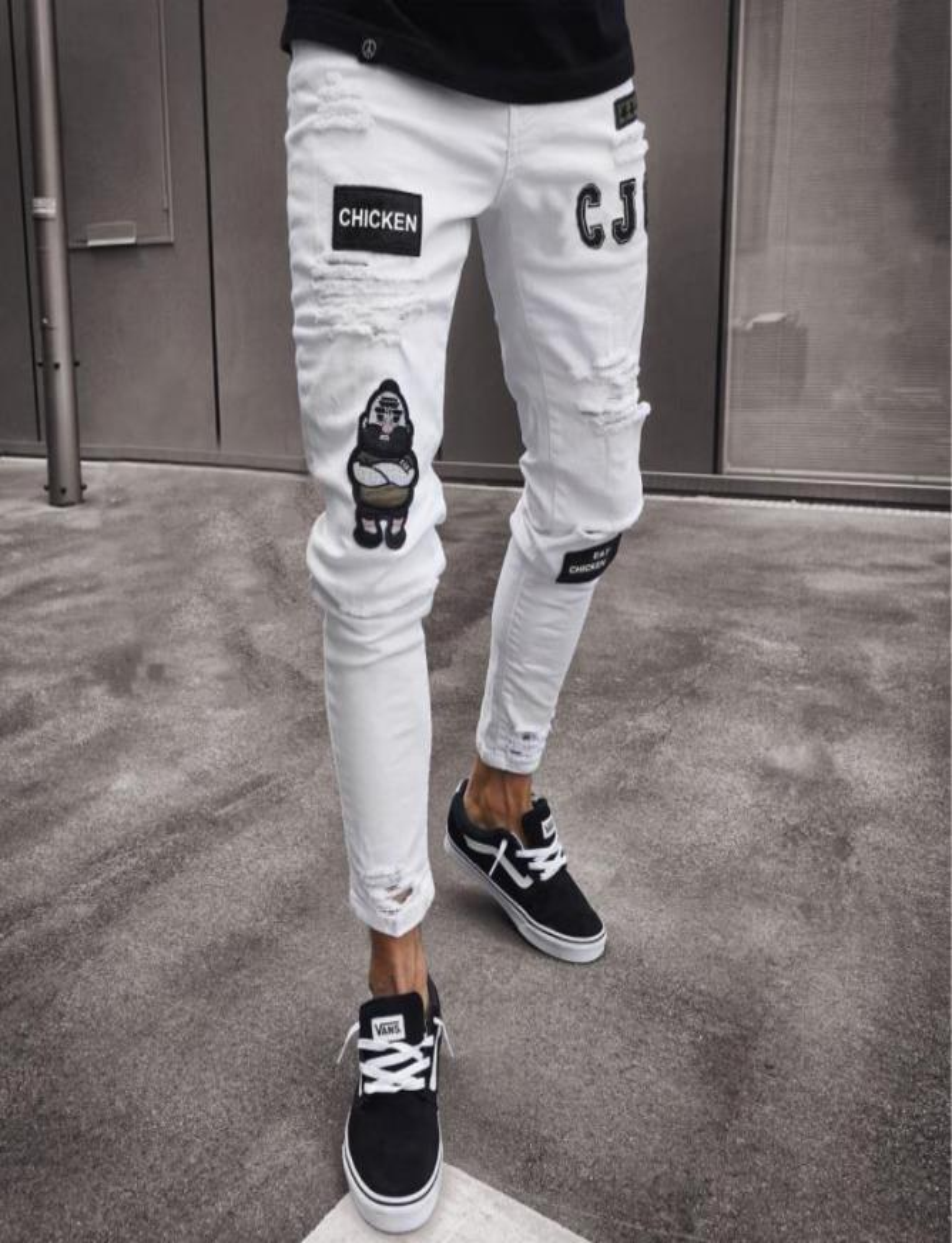 Jeans elastico strappato