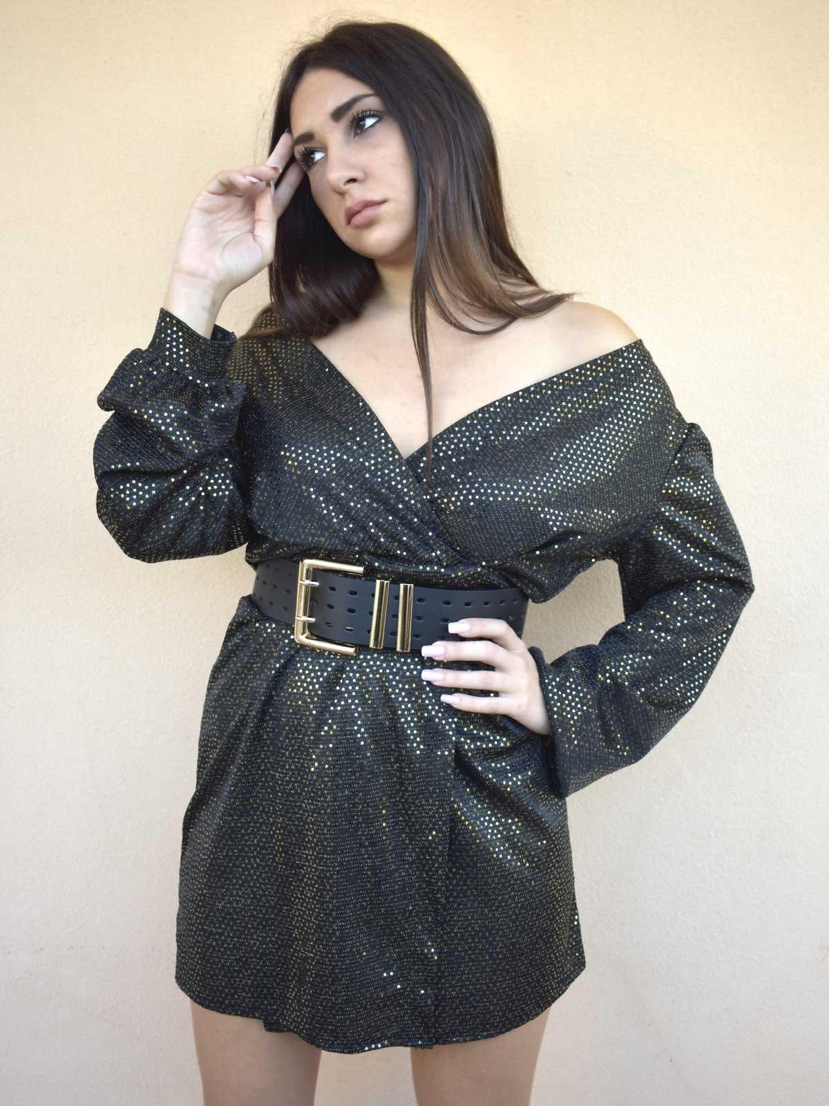 Vestito luce oro scuro
