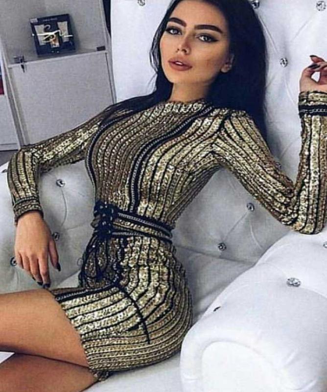 Vestito oro paillettes oro
