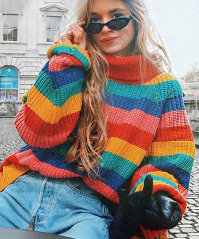 Maglione colorato colorato