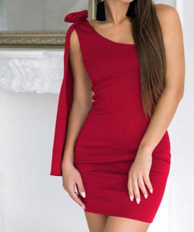 Vestito rosso elegante rosso