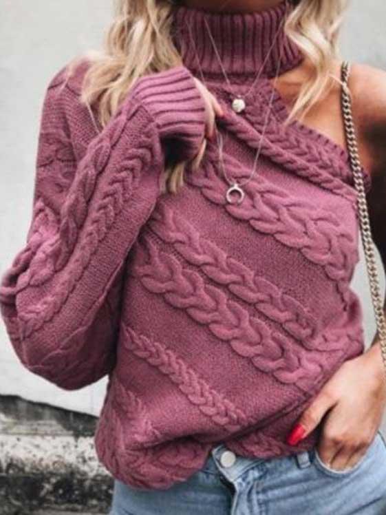 Maglione una manica rosa