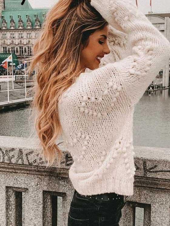 Maglione cuori