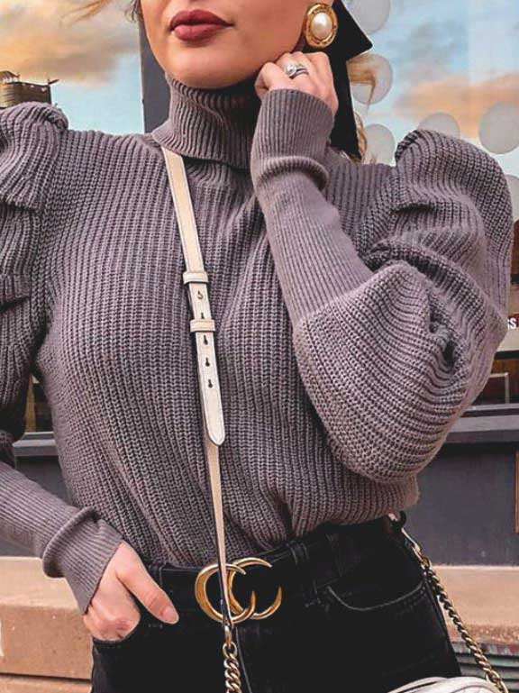 maglione viola viola