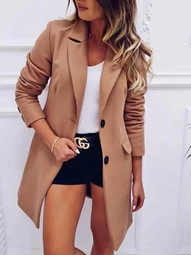 Cappotto donnacoloremarrone