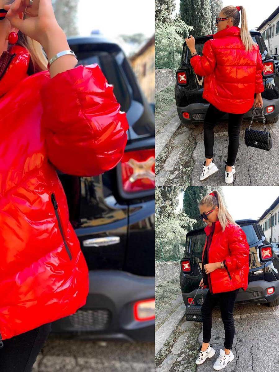 Giacca rossa lucidacolorerosso