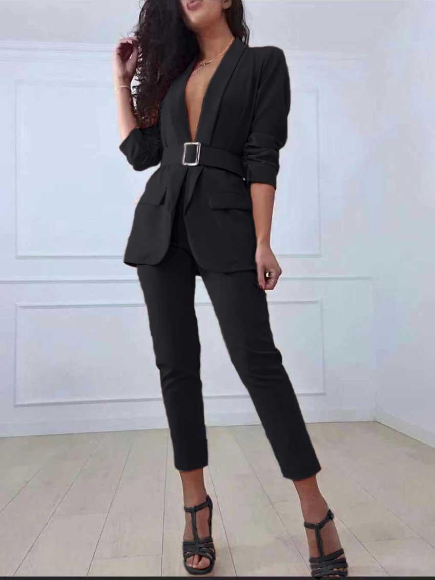 Completo blazer e pantalone nero