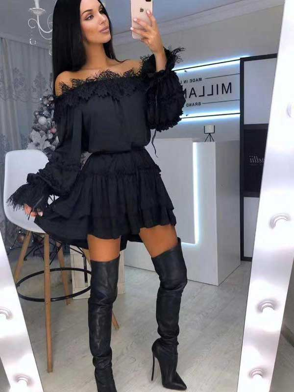 Vestito nero fashion nero