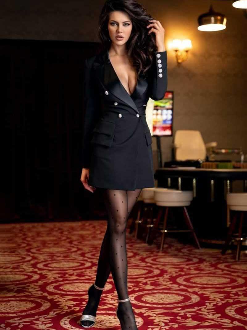 Vestito effetto blazer nera