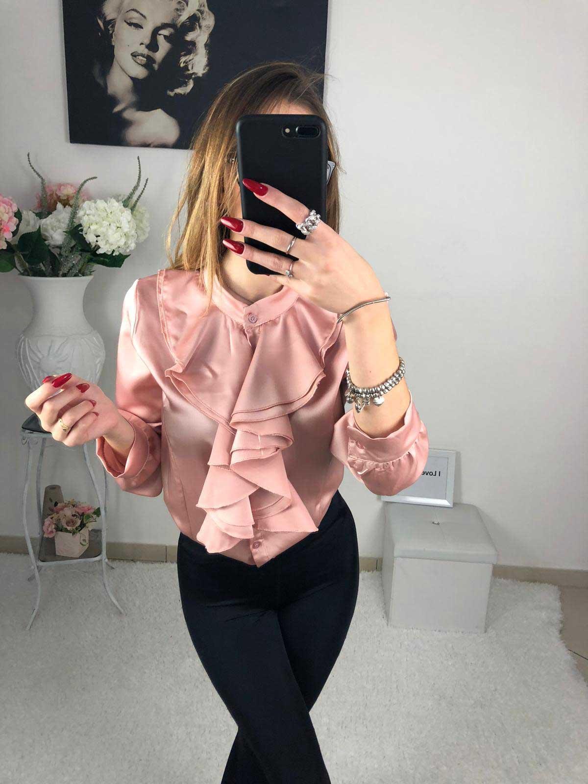 Camicia donna rosa