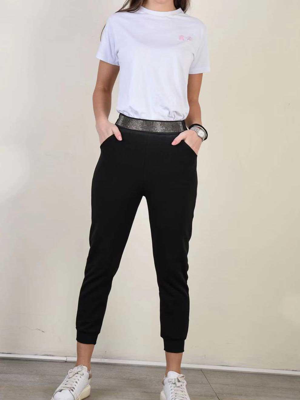 Pantalone nero comodo nero