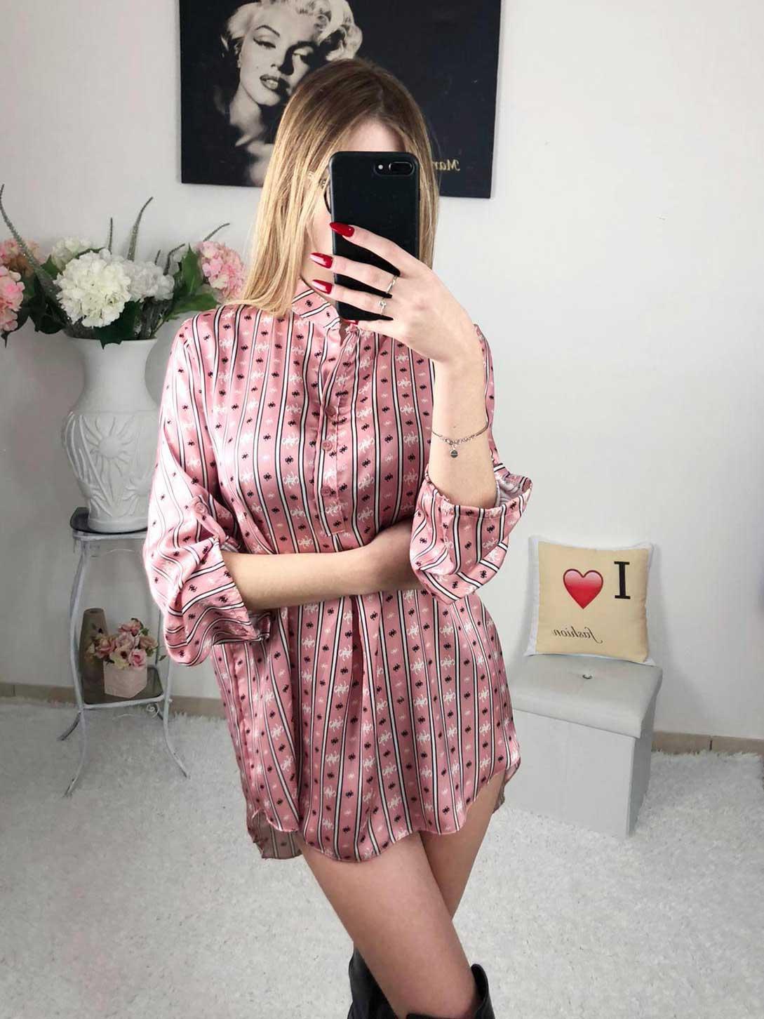 Camicia fantasy rosa