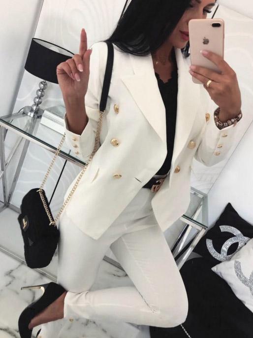 Completo giacca e pantalone bianca