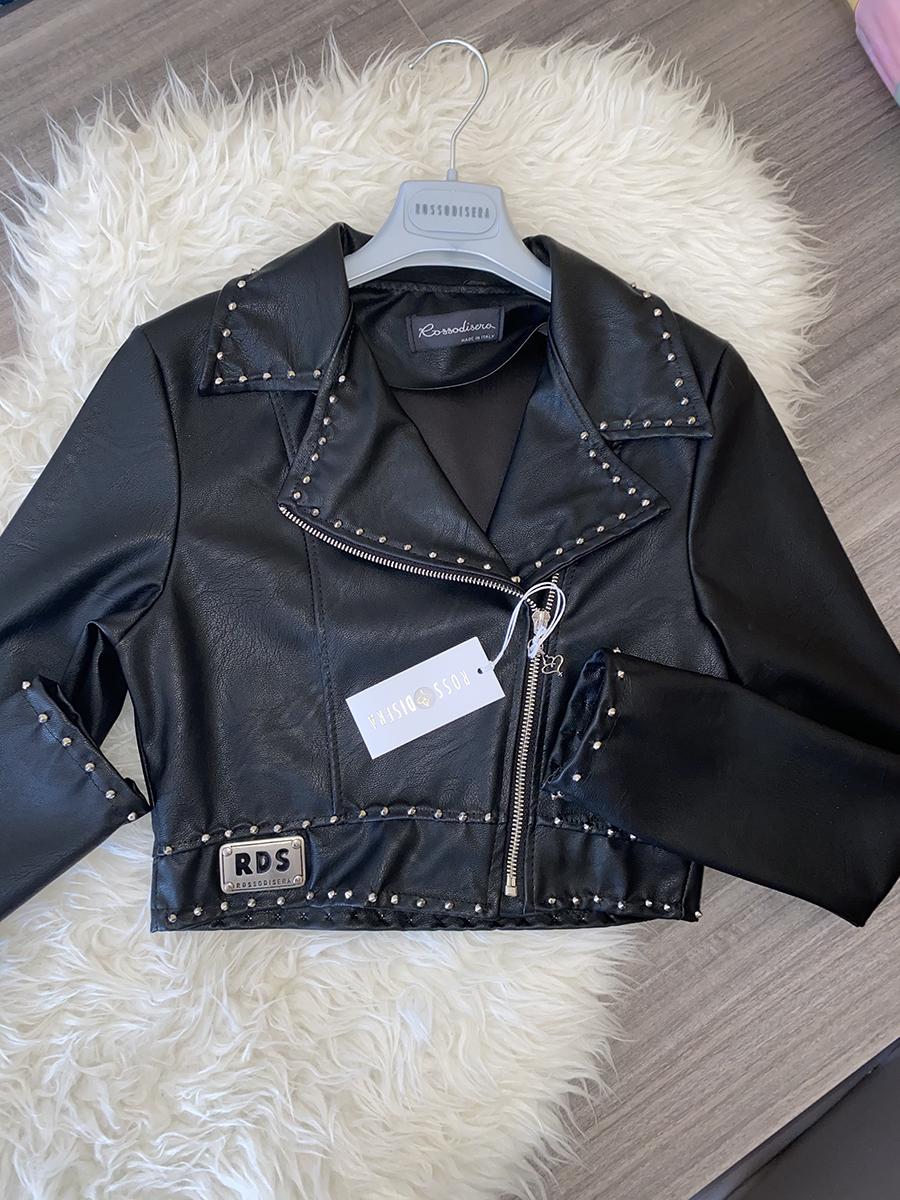 Giacca nera con borchie nera
