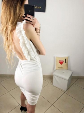 Vestito bianco bianco