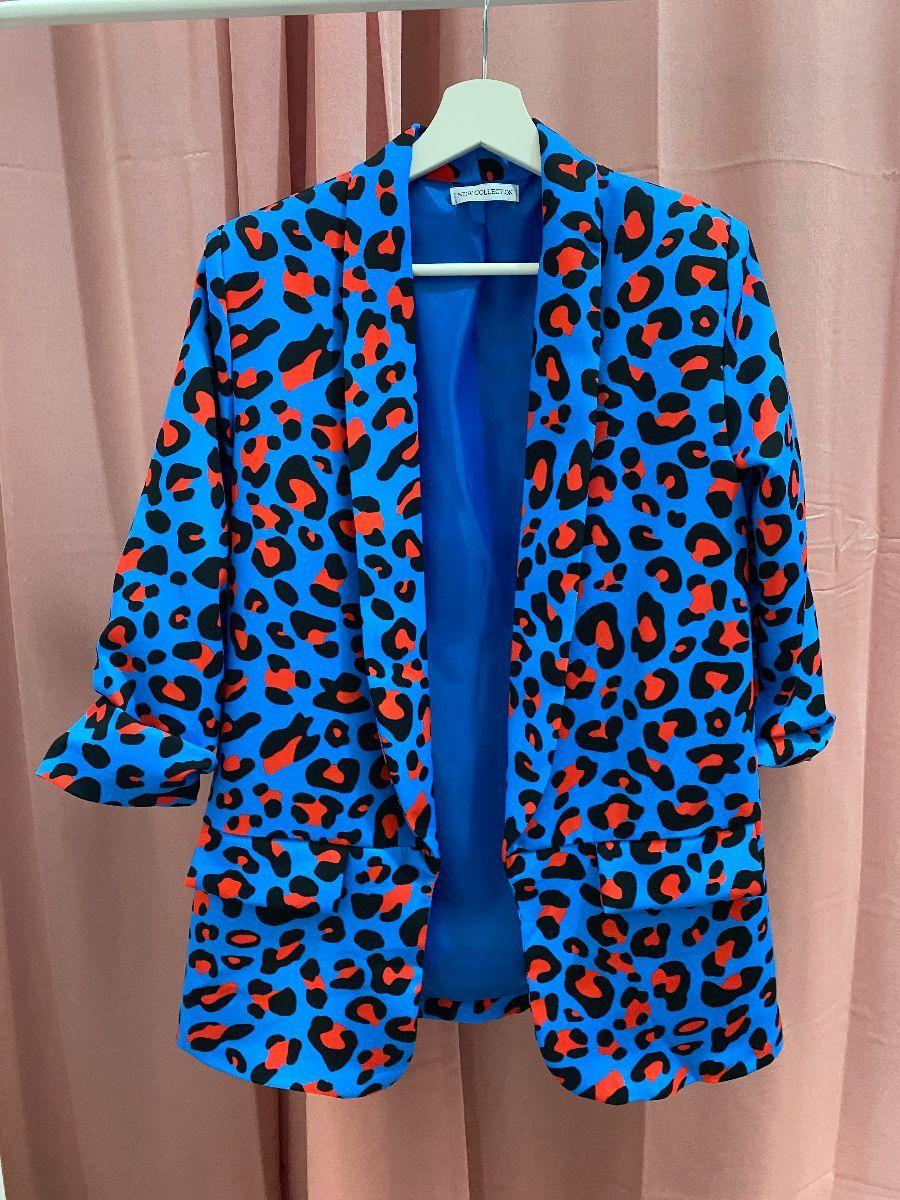Blazer leopardato colorato