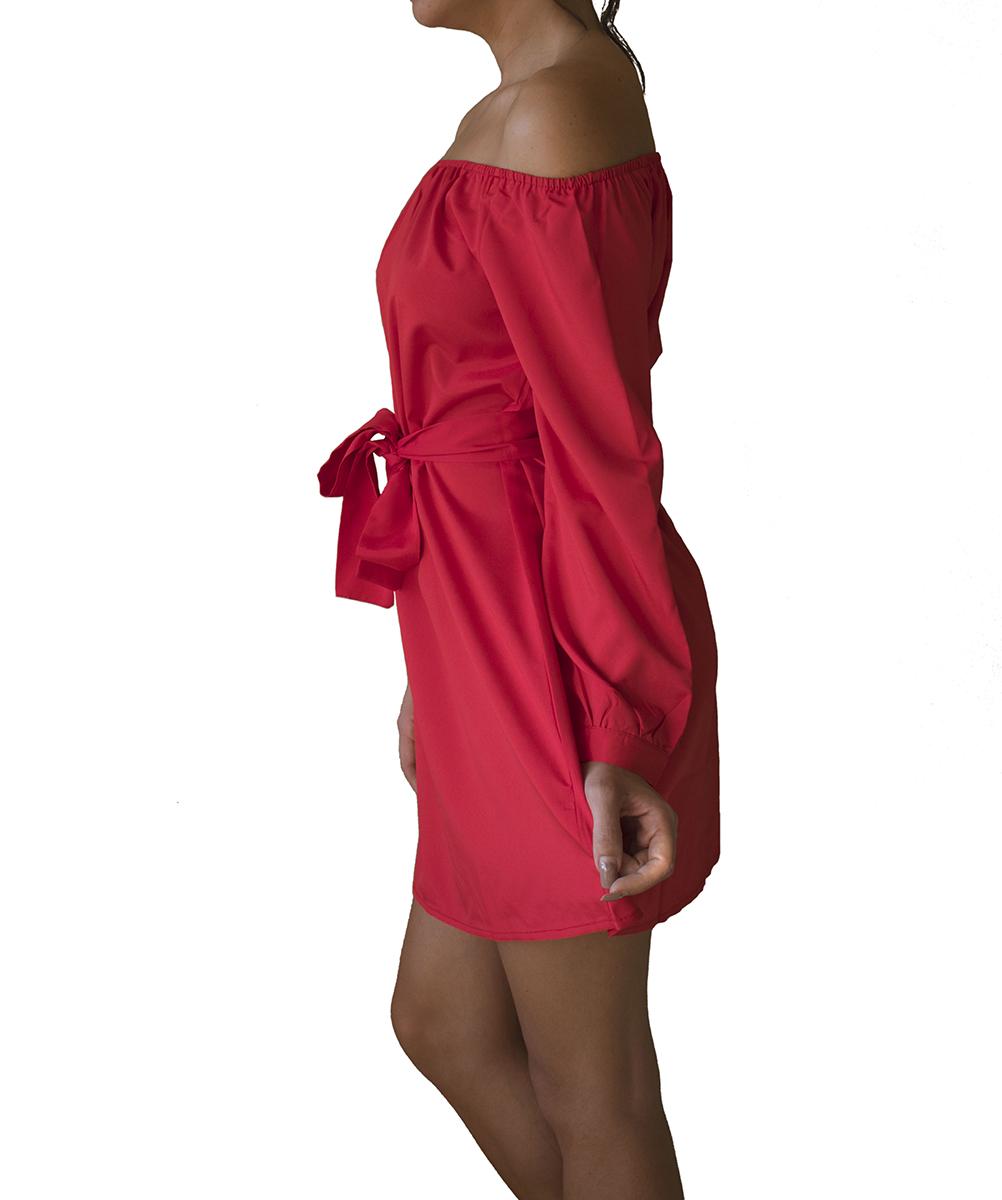 pretty nice ab440 fa6cc Vestito con scollo dritto color Rosso | Pablimaca | Shopping ...