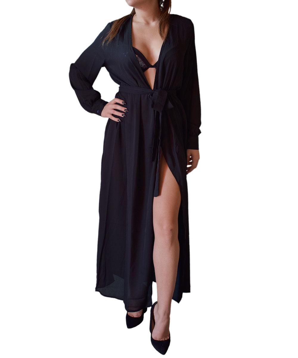 boom Guarantee assist  Abito kimono color Nero | Pablimaca | Shopping online